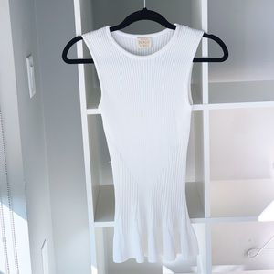 Torn by Ronny Kobo White / Cream Knit Top